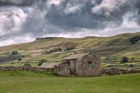 Barn above Hawes